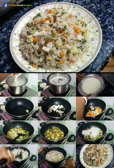 Veg fried rice is very popular dish specially in the dinner.My hubby is fond of veg fried rice. Vegetable Paneer Fried Rice recipe step by step. Paneer Recipes, Rice Recipes, Indian Food Recipes, Vegetarian Recipes, Cooking Recipes, Curry Recipes, Recipies, Savoury Rice Recipe, Briyani Recipe
