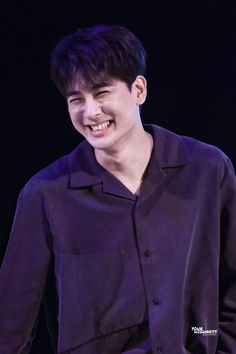 """when yunhyeong smiles. and his eyes squeeze shut. his smile wide. my dumbass heart stutters"" Ikon Songs, Name Songs, Vocal Lessons, Jay Song, Kim Hanbin, His Eyes, In This World, Kpop, Actors"