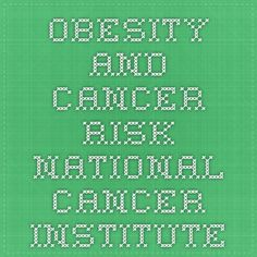 Obesity and Cancer Risk - National Cancer Institute