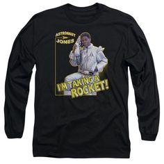 SNL/Astronaut Jones Long Sleeve Adult T-Shirt 18/1 in Navy