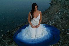 DIY // Dip Dyed Wedding Dress — Firefly Events
