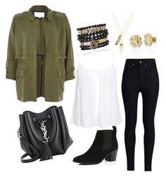 Sin título #99 by kikaa18 on Polyvore featuring polyvore, fashion, style, New Look, River Island, Rodarte, Yves Saint Laurent, Samantha Wills, My Name Necklace and Privileged