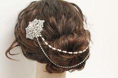 Bridal Hair Chain wedding hair comb bridal hair comb wedding headpiece bridal hair accessory wedding jewelry bridal hair piece wedding comb