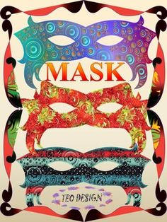 Masks -  Masks Crafts - Clipart - Personal or Commercial UseThe set  includes 25 different color designs and black & white masks.Create a beautiful set of MASK with your students.These projects will help your students develop important hand craft skills.