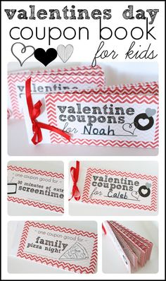 A thoughtful gift for our littlest Valentines!  Free Printable Valentines Day Coupon Book for Kids!