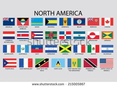 North America Continent Flag Pack - America Flag - Ideas of America Flag North America Flag, North America Continent, Countries And Flags, Countries Of The World, All World Flags, World Country Flags, Diversity In The Classroom, Flags With Names, Gernal Knowledge