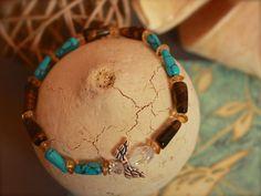 Turquoise Citrine Tiger's Eye Angel Bracelet