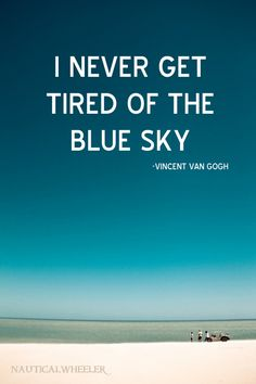 Vincent van Gogh sky #quote