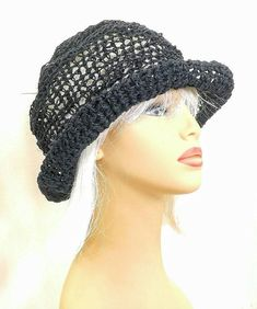e4fba9165c31d Summer Crochet Hat Womens Hat Summer Hat for Women Hemp Hat Sun Hat Beach  Hat Wide