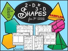 This is a free preview to my 2D and 3D Shapes for 3rd Grade.Below is the product description to the full product.This product contains 5 free pages that are contained in the original product.If you like them, check the full product out here.  2D and 3D Shapes for 3rd GradeThis STAAR inspired set will help prepare your students for the tough questions on the assessment.