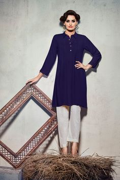 Simple Casual Wear Cambric Cotton Kurti .....Go Simple...
