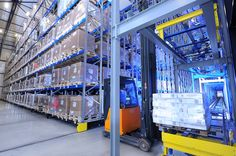 Storage Density is drastically increased while maintaining direct access to every single pallet on the warehouse. Warehouse Automation, Pallet, Around The Worlds, Storage, Pictures, Purse Storage, Photos, Shed Base, Palette