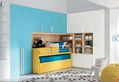 Room For The Girl of Space-Saving Modern Kids Room Furniture Read great articles on the latest 2013 #bedroom trends here http://articles.builderscrack.co.nz/tag/bedroom/ or hire a professional today from #Builderscrack http://builderscrack.co.nz/post-job-desc