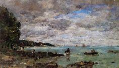 The Coastline at Plougastel - Eugene Boudin