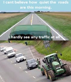 if you don't like they way I am driving get back on the interstate otherwise sit back and be nice and quit a honking and be that away:) But this is not an International Harvester
