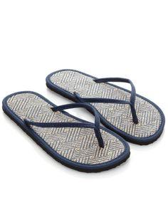 148704bce053c Zig Zag Raffia Seagrass Flip Flops