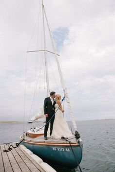 Yesterday we gave you a peek into this couple's perfectly New Englandrehearsal dinner, and today we get to devour every last detail of their dream Cape Cod day. And boy is it a dream day. Hosted at none other than