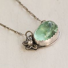 Hey, I found this really awesome Etsy listing at https://www.etsy.com/listing/108813564/prehnite-statement-necklace-in-sterling