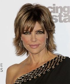 Lisa Rinna Short Straight Formal Hairstyle - Medium Brunette (Caramel) | TheHairStyler.com