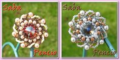 free pattern schema for pendant (brooch, ring) | Beads Magic