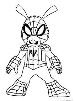 Print Spider Man Coloring Miles Morales Coloring Pages
