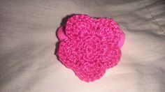 Flor en gomilla para niña hecha por mi