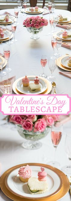 Valentine's Day Table for your Galentine's party, your romantic Valentine's Day dinner, including tablescape ideas and elegant pink and gold decor ideas. #galentines #valentinesday