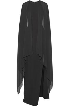 Michael Kors - Stretch-wool and silk-georgette gown from NET-A-PORTER. Saved to Black Tie Required.