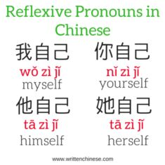 Reflexive Pronouns in Chinese