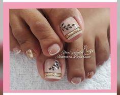 Cute Toe Nails, Cute Toes, Toe Nail Art, Nail Art Designs 2016, Toe Nail Designs, Nude Nails, Gel Nails, Nail Polish, Mani Pedi
