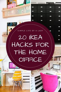 Add something unique to your home office by hacking IKEA products. Here are samples!