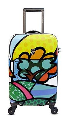 9436e9edb Heys Usa Luggage Britto Flowers 22 Inch Hard Side Carry On Suitcase,  Multi-Colored, One Size