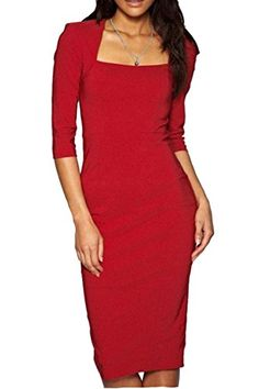 Viwenni Damen Elegant hoch Taille Euti Knielang Pencil Party Kleider Asien Size S-XL
