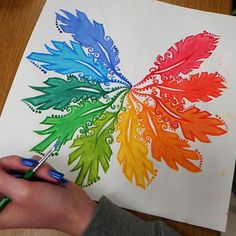 High School Art Lesson Color Theory - art teacher creatureprimary and secondary . Color Wheel Design, Paint Color Wheel, Teaching Colors, Teaching Art, Color Wheel Projects, Middle School Art Projects, School Painting, Art Classroom, Art Plastique
