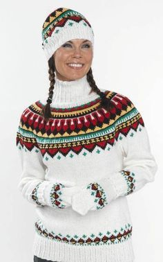 As a kid I had this kind of sweater but blue was one of the color. Fair Isle Knitting Patterns, Knitting Designs, Knit Patterns, Fair Isle Pullover, Norwegian Knitting, Warm Sweaters, Knit Fashion, Christmas Sweaters, Knitwear