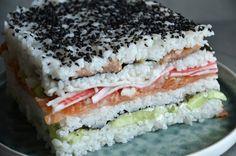 Tort sushi - niebo na talerzu Sandwiches, Food And Drink, Cooking, Blog, Impreza, Rice, Baking Center, Koken, Blogging
