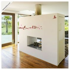 Shoply.com -Birds flying, branches and flowers vinyl wall stickers - (weeded and application tape applied). Only £9.99