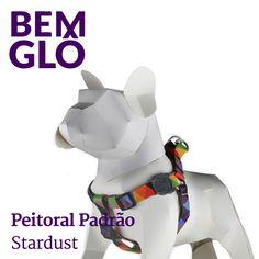 """Mais uma da série """"Seu pet estiloso e seguro"""" ;) #bemglo #pet #peitoralstardust"""