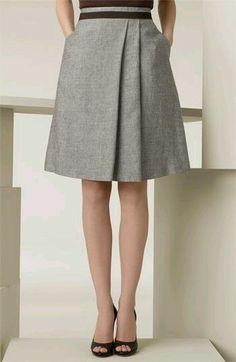 Falda a la rodilla
