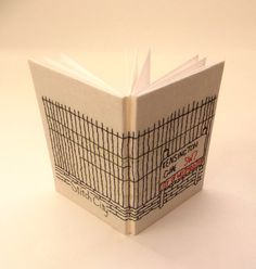 Kensington  Hand Bound and Embroidered Notebook by StitchCity