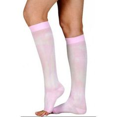 e455dfb037c Juzo Soft 30-40 mmHg Knee High Extra Firm Compression Stockings 2002AD  White Tie Dye In Seasonal Colors
