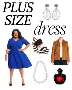 """""""Let's go!"""" by koolkatefashions ❤ liked on Polyvore featuring Maggy London, French Blu, Bagatelle, M&Co and plus size clothing"""