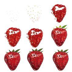 DIY how to draw strawberry