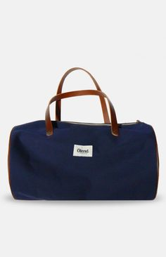LUPE-Navy - wide gym bag #anglestore #accessorie #gym #bag #leather