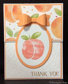 Stampin days: Fresh Fruit Thank Youカード