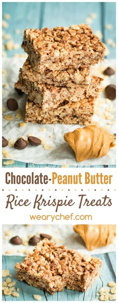 You'll flip for these easy chocolate peanut butter rice krispie treats!