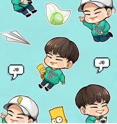 Got7 Fanart, Kpop Fanart, Mark Jackson, Jaebum, Yugyeom, Chibi, Got7 Mark, Photo Illustration, Jinyoung