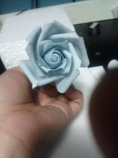 """Comment by Verusca Walker: This is the clearest, most concise, and easiest to follow rose tutorial I have found so far. Lc- I LOVE this rose, especially the center and the way the outer petals are """"torn"""" and natural looking.  Gonna give this a peek later.."""