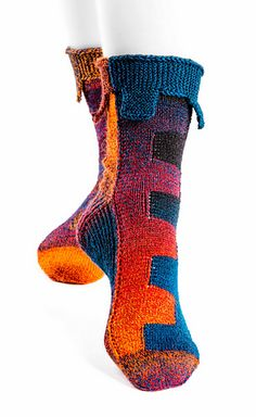 Knitting Patterns Ravelry Ravelry: Sockwork Orange pattern by Ursa Major Knits Ursa Major, Orange Pattern, Sock Yarn, Knitting Socks, Gradient Color, Mittens, Ravelry, Knit Crochet, Knitting Patterns