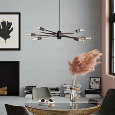 Chandeliers You'll Love in 2019 Wagon Wheel Chandelier, Linear Chandelier, Sputnik Chandelier, Chandelier Shades, Chandelier Lighting, Table Lighting, Chandeliers, Room Lights, Ceiling Lights